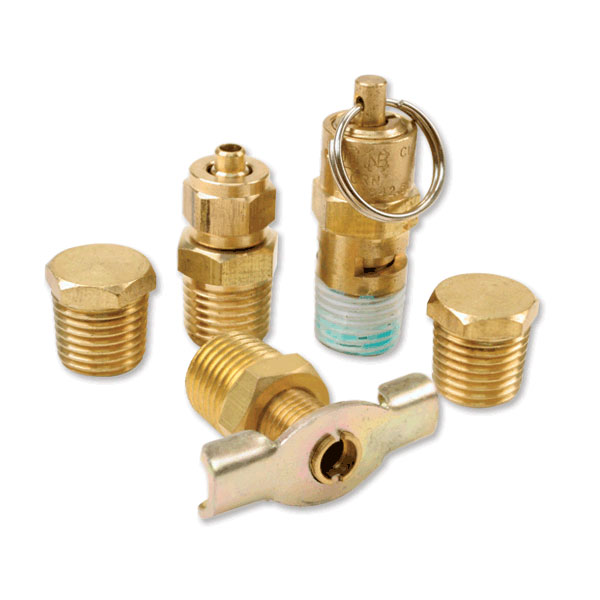 Viair Tank Port Fittings Kit For 200 Psi Rated Systems - 5 Piece