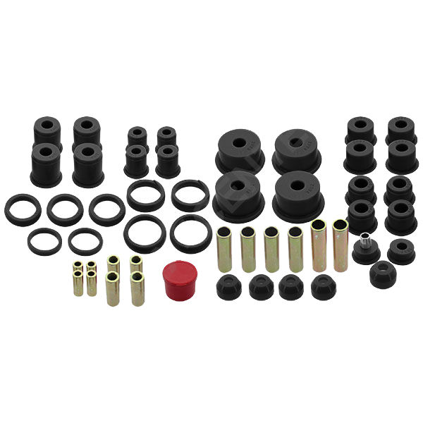 Jeep Hyper-Flex System- Complete Master Bushing Set Black, Suspension Parts | 1984-2001 Cherokee