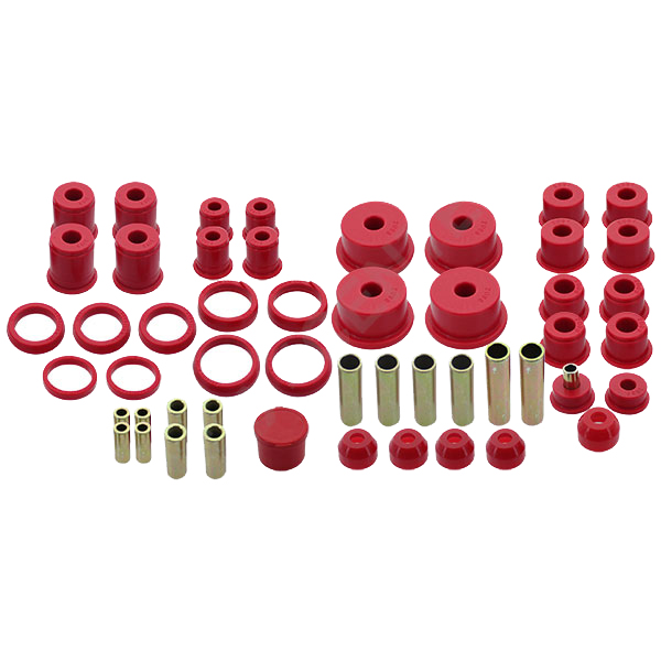 Jeep Hyper-Flex System- Complete Master Bushing Set Red, Suspension Parts | 1984-2001 Cherokee XJ,