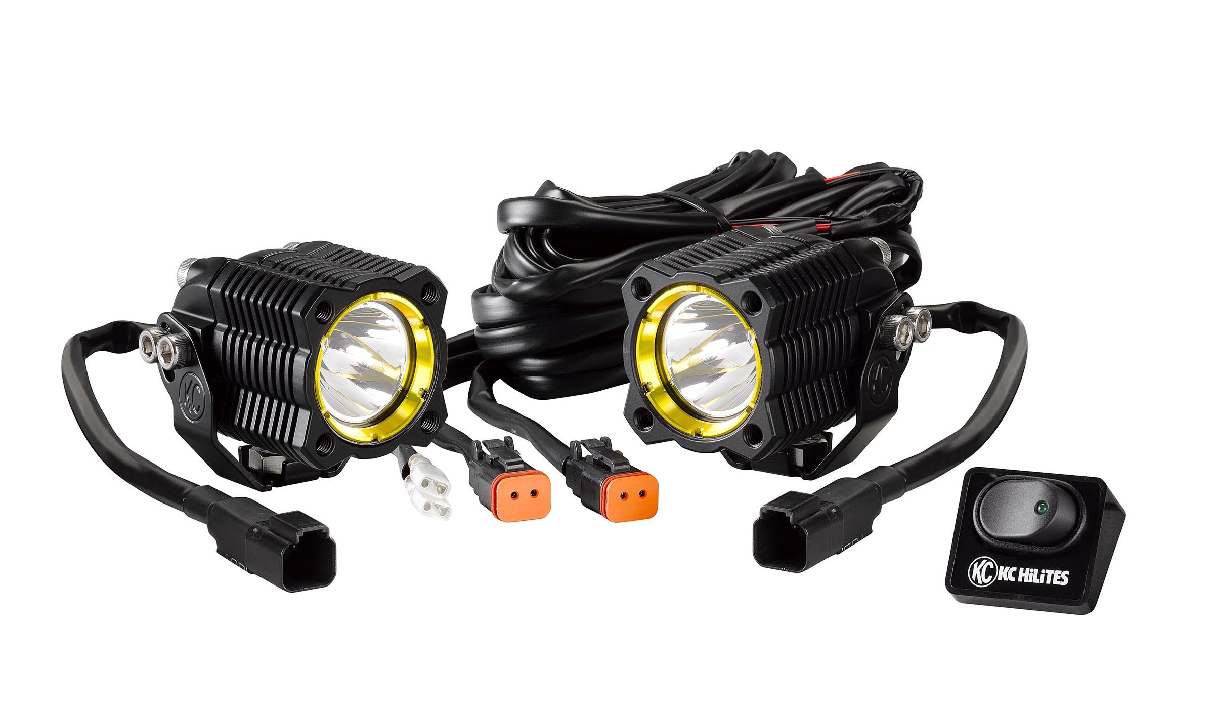 Image of Kc Hilites 10W Flex Led Spread Beam Single Pair Light Pack System Kit