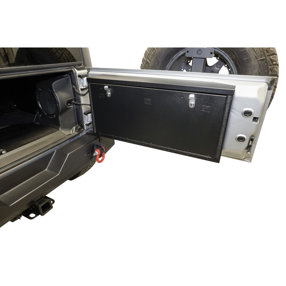 Jeep Tuffy Products Jk Tailgate Lockbox, Black, Exterior Car Parts | 2007-2018 Wrangler JK/JKU,