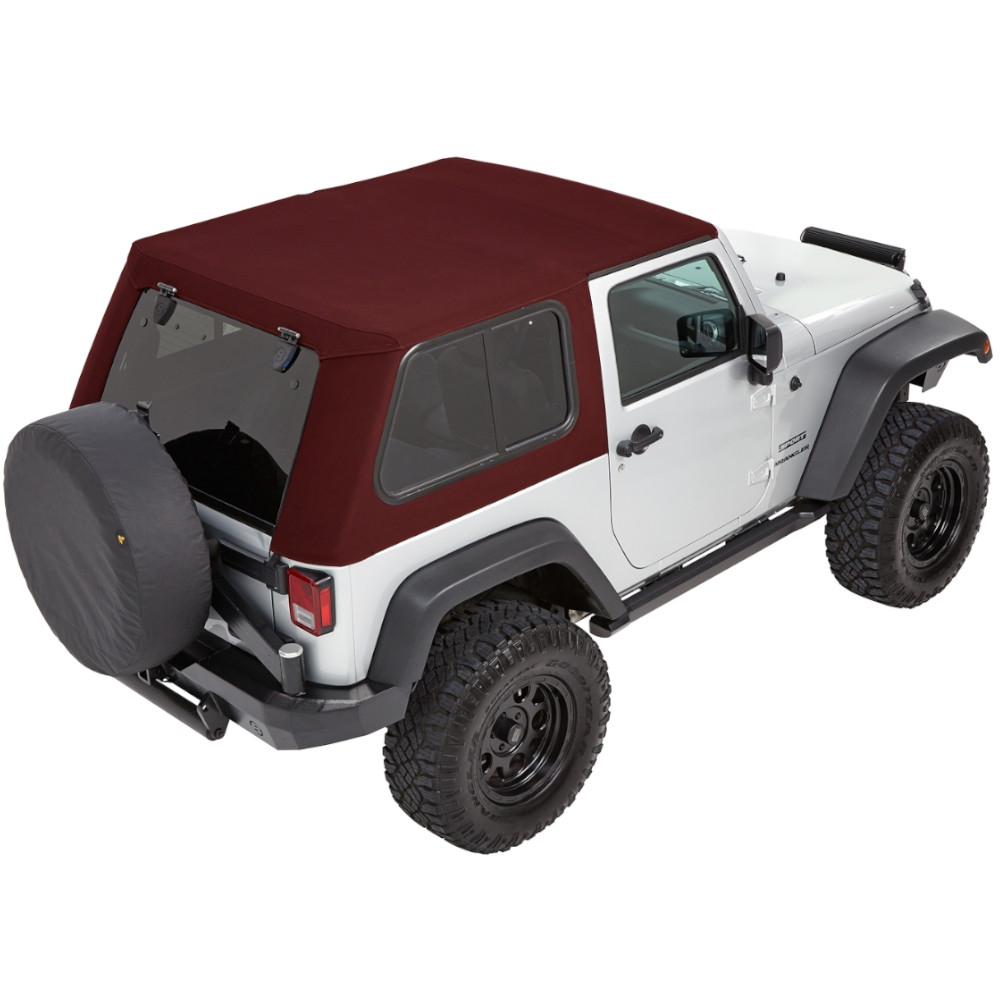 Bestop Trektop Pro Hybrid Soft Top - With Removable Tinted Glass Windows - Crushed Red Pepper Twill