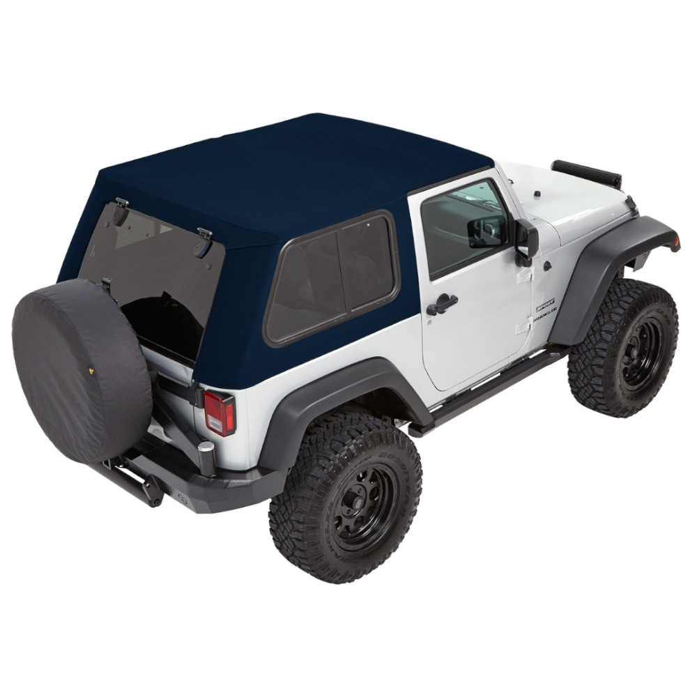 Bestop Trektop Pro Hybrid Soft Top - With Removable Tinted Glass Windows - Navy Blue Twill