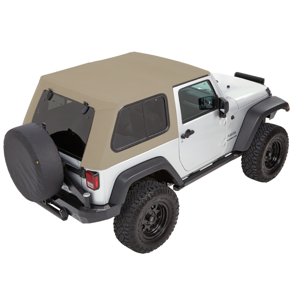 Bestop Trektop Pro Hybrid Soft Top - With Removable Tinted Glass Windows - Pebble Beige Twill