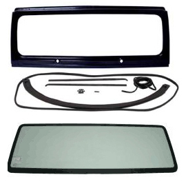 Image of Windshield Frame Kit With Windshield Glass