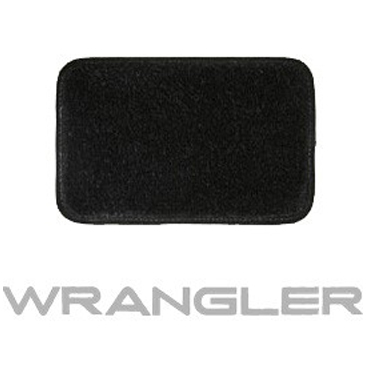 Image of Lloyd Mats Ultimat Black Front And Rear Floor Mat Set, Front With Silver Wrangler Logo - 4 Piece Set