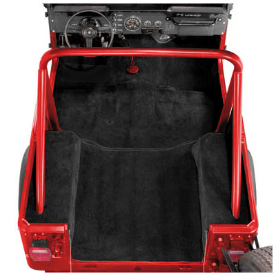 Image of Acc Charcoal Poly Backed Complete Carpet Kit Without Rocker Panels