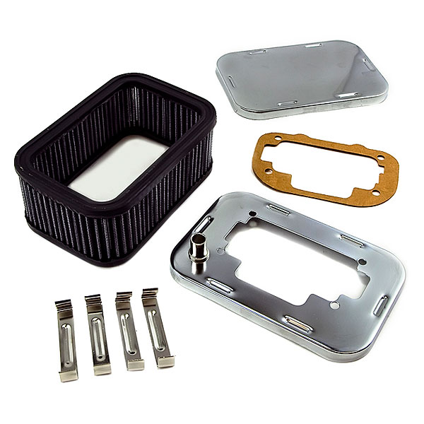 Image of Weber Air Filter Assembly, Rectangle - Chrome