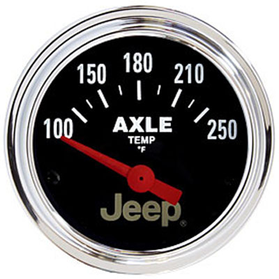 "Image of Auto Meter 2 1/16"" Axle Temperature Gauge, 100 - 250`f Sse, Jeep Licensed"