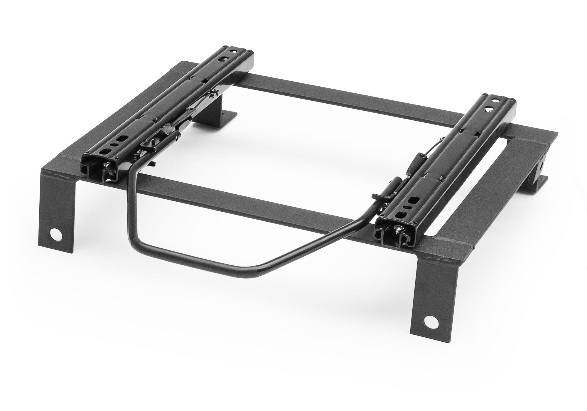 """Image of """"Corbeau 1"""""""" Tall Universal Seat Bracket With Double Locking Slider, Powder Coat Black - Left Or Right Side"""""""