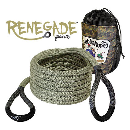 """Image of Bubba Rope 20' X 3/4"""" Renegade Recovery Rope With Black Eyes"""