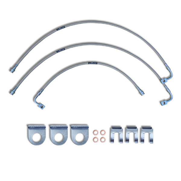 """Image of Crown Performance 24"""" Extended Brake Lines For 6""""-7"""" Lift - Clear"""
