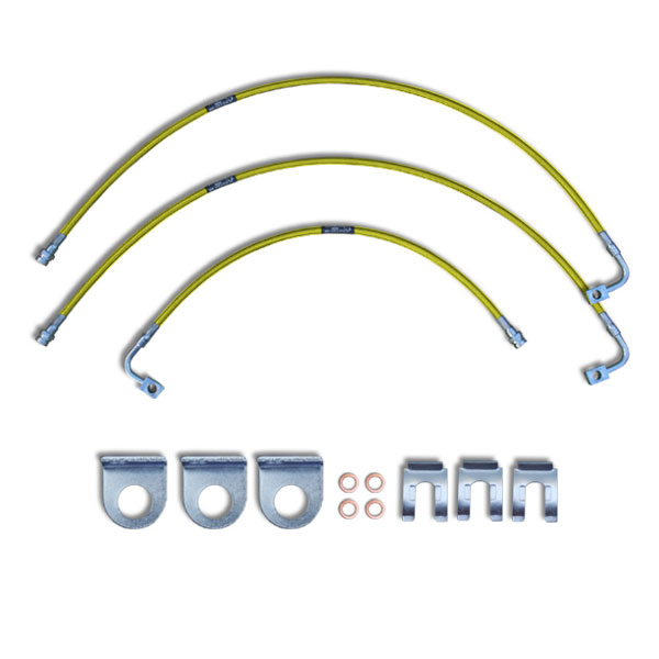 """Image of Crown Performance 24"""" Extended Brake Lines For 6""""-7"""" Lift - Yellow"""