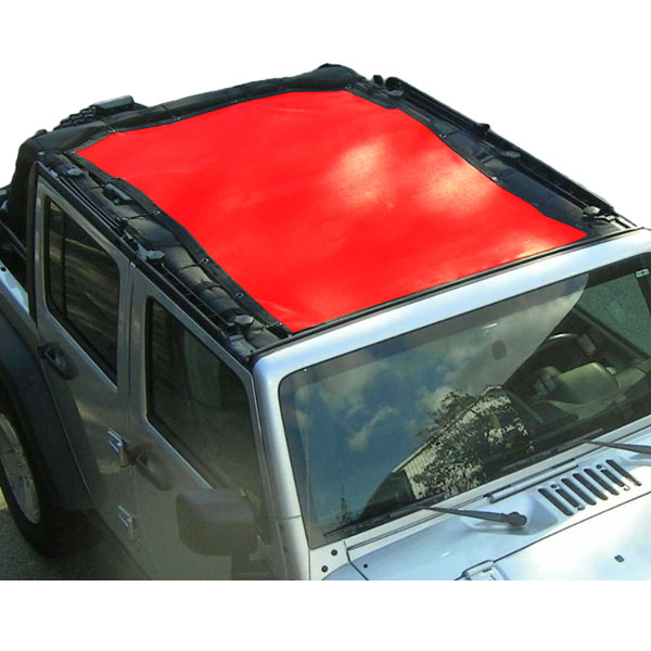 Image of Dirtydog 4X4 Front And Rear Sun Screen, 1-Piece - Red