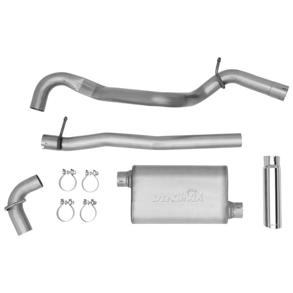 """Image of Dynomax Single 2.5"""" Cat-Back Exhaust System, 3"""" Polished Stainless Steel Tip, Ultra Flo Welded Muffler"""