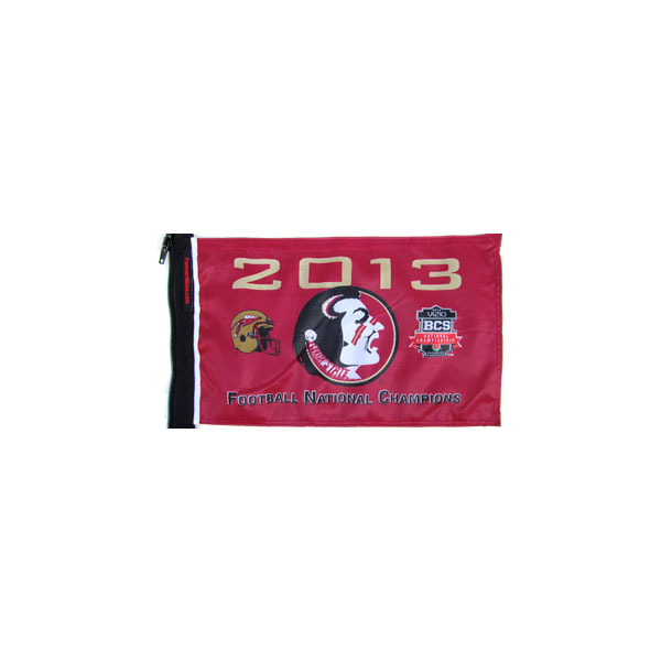 Image of Forever Wave Florida State 2013 Champions Flag - Red