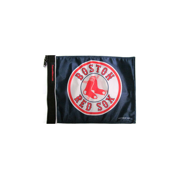 """Image of Forever Wave Boston Red Sox Flag, 11"""" X 15"""" - Navy Blue"""