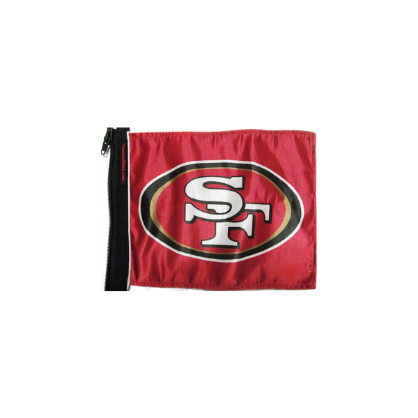 "Image of Forever Wave San Francisco 49Ers Flag, 11"" X 15"" - Red"