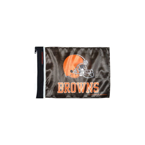 """Image of Forever Wave Cleveland Browns Flag, 12"""" X 17"""" - Brown"""