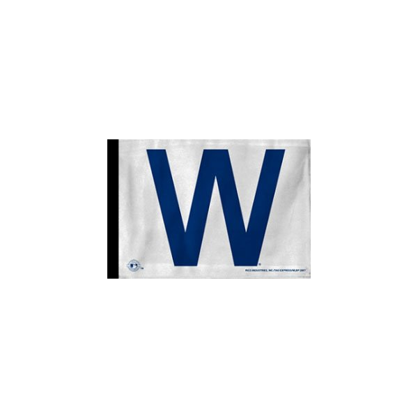 """Image of Forever Wave Chicago Cubs Win Flag, 11"""" X 17"""" - White"""