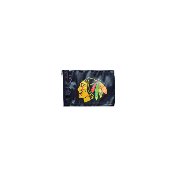"Image of Forever Wave Chicago Blackhawks Flag, 11"" X 17"" - Black"