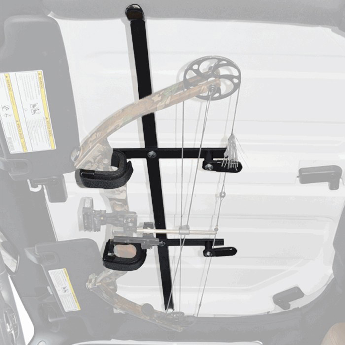 Image of Great Day Inc. Quick-Draw Overhead Bow Rack - Black Powder Coat