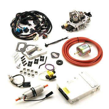 Image of Howell Fuel Injection Conversion Tbi Kit, 4-Barrel Carb. (Offroad)