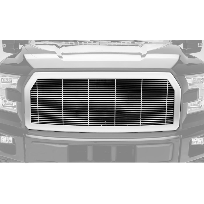 Image of T-Rex Framed Billet Grille - Black Powder Coated Frame With Polished Bars