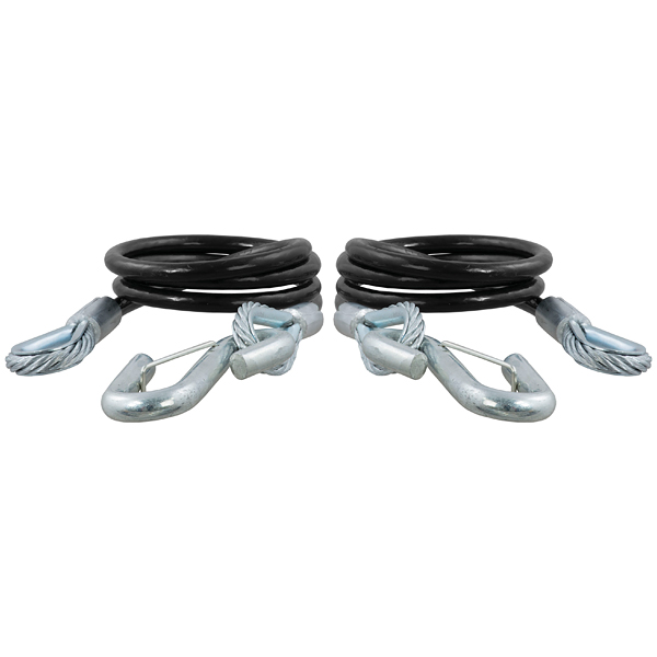 """Image of Curt 42"""" Safety Cables, 5,000 Lbs Minimum Break Force - Pair"""