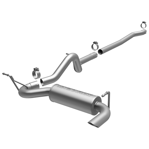 """Image of """"Magnaflow Competition Series 2.5"""""""" Cat-Back Exhaust System, Single Outlet - Stainless Steel"""""""