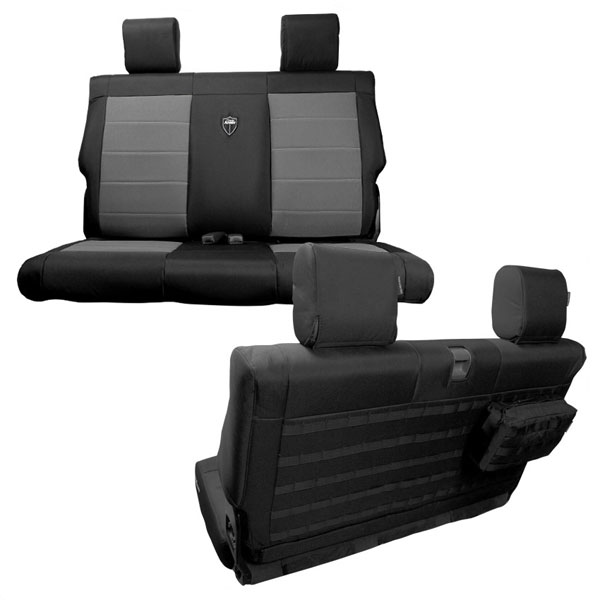 Image of Trek Armor Supreme Rear Bench Seat Covers, Black And Graphite