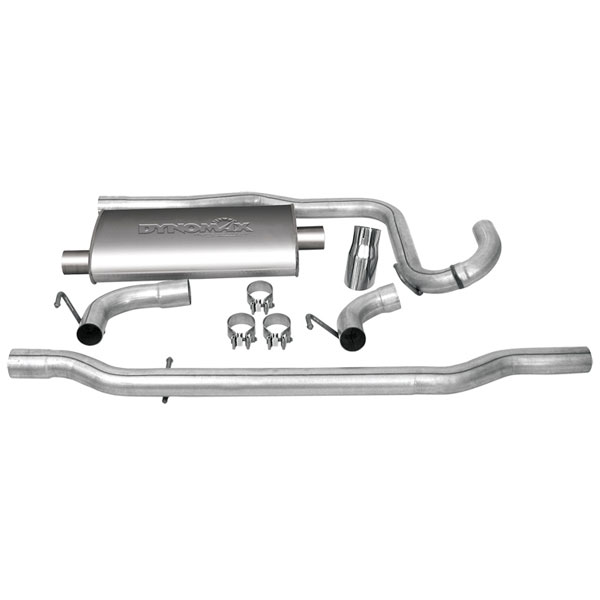 """Image of Dynomax Single 2.25"""" Ultra Flo Cat-Back Exhaust System With 3"""" Tip And Muffler, Stainless Steel"""