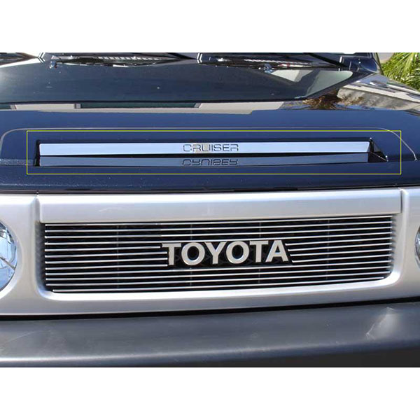 Image of T-Rex Cruiser Hood Scoop, Polished Stainless Steel