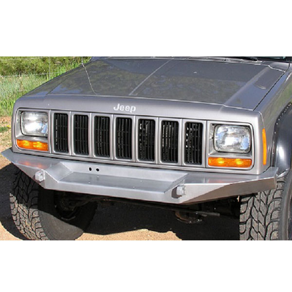 """Image of Logan's Metal Front Winch Bumper With 3/4"""" D-Ring Mounts & Fairlead Mount - Bare Metal"""