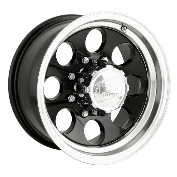 """Image of """"Ion [171] Black 15"""""""" X 10"""""""" - 5"""""""" X 5.5"""""""" Bolt Pattern, Back Spacing 4"""""""""""""""