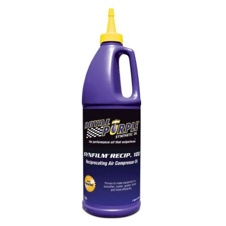 Royal Purple Synfilm Recip. 100 Synthetic Air Compressor Lubricant, 1 Quart Bottle