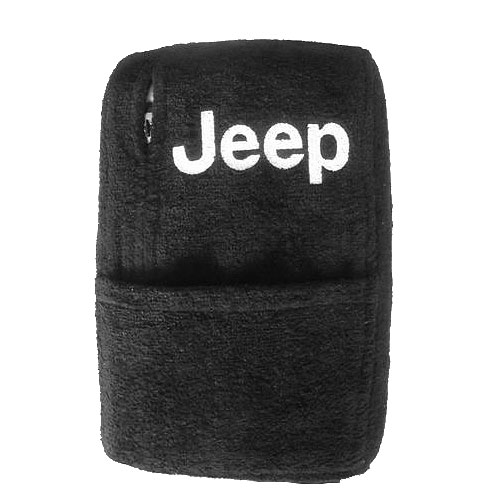 Image of Console Cover - Terry Cloth (With Sleeve Pocket & Embroidered Jeep Logo)