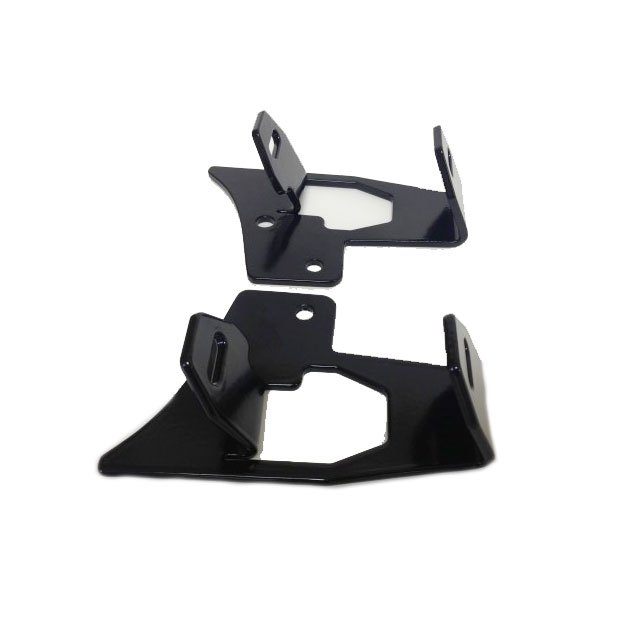 Image of Genesis Off Road Double Dually Light Brackets, Black Powder Coated, Pair