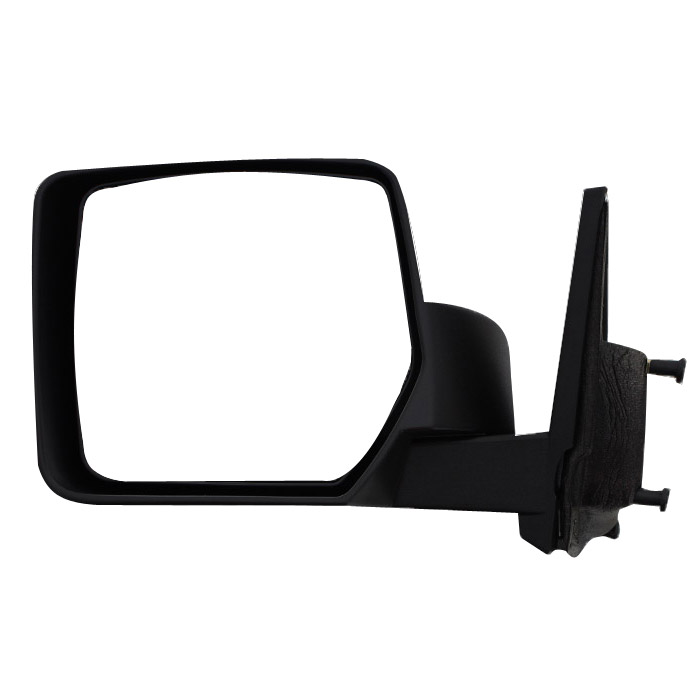 Image of Left Side Manual Foldaway Mirror, Black Textured - Sold Individually