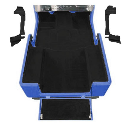 Image of Acc Black Poly Backed Complete Carpet Kit With Rocker Panels