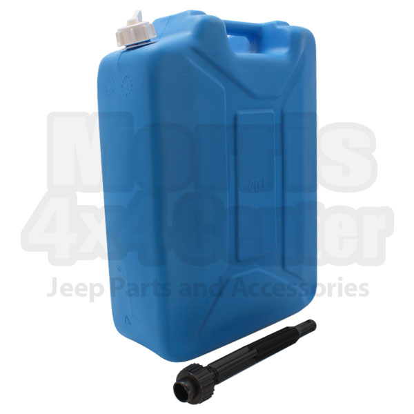 Image of Plastic Jerry Can 20 Liter - 5.28 Gallon With Spout, Blue