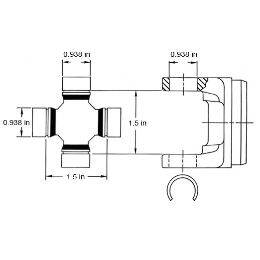 Image of Spicer 1000 Series U-Joint, Greasable
