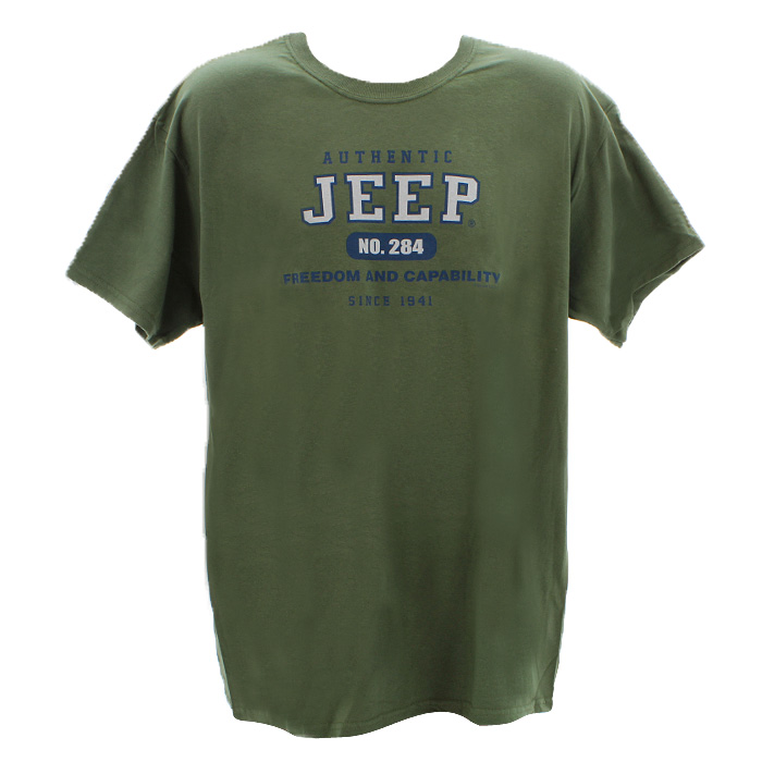Image of Jeep T-Shirt, Authentic, Olive Green