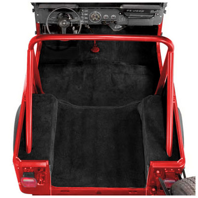 Image of Acc Black Poly Backed Complete Carpet Kit Without Rocker Panels