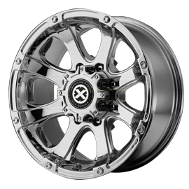 "Image of ""American Racing Atx Ax188 Ledge Series Wheel - 17""""x 8"""" - Bolt Pattern 5X4.5"""" - Backspacing 4.5"""" - Chrome Plated"""