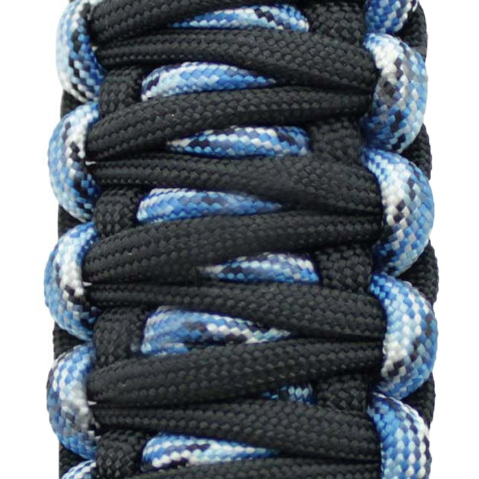 Image of Surprise Straps Center Sound Bar Strap - Blue Snake Paracord And Solid Black Paracord