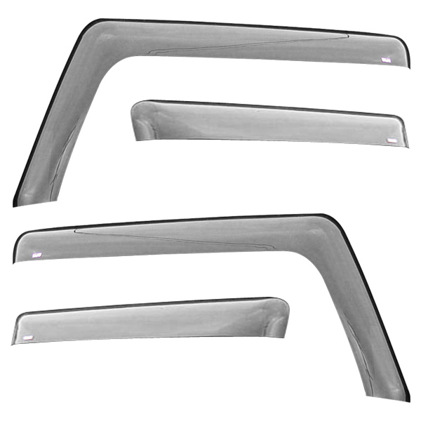 Image of Wade Automotive, In-Channel Wind Deflector 4 Pieces, High Gloss Smoke