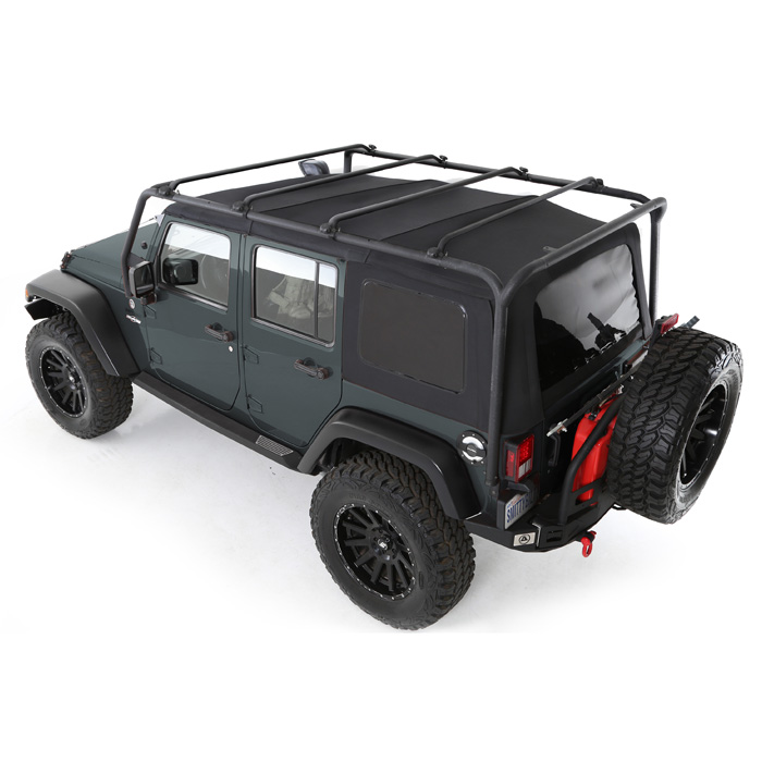 Jeep Smittybilt Src Roof Rack, Steel Tubing, Textured Black, Exterior Car Parts | 2007-2017