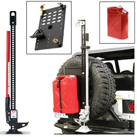 "Image of 60"" Hi-Lift Cast/steel Jack Kit With Jerry Can (Red) & Intelligent Rack"