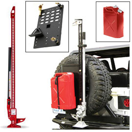 "Image of 48"" Hi-Lift All Cast Jack Kit With Jerry Can (Red) & Intelligent Rack"